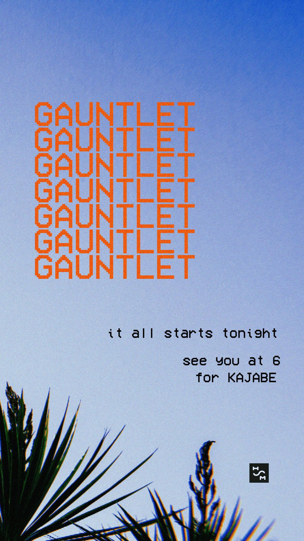 Gauntlet promo